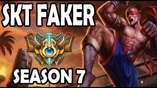 FAKER plays LEE SIN JUNGLE vs A Korean Challenger ELISE