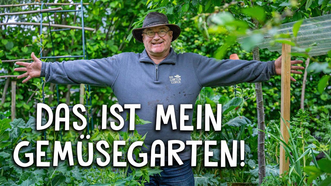 Rundgang durch meinen Gemüsegarten 🥬 - Baumschule, Hochbeete und mehr