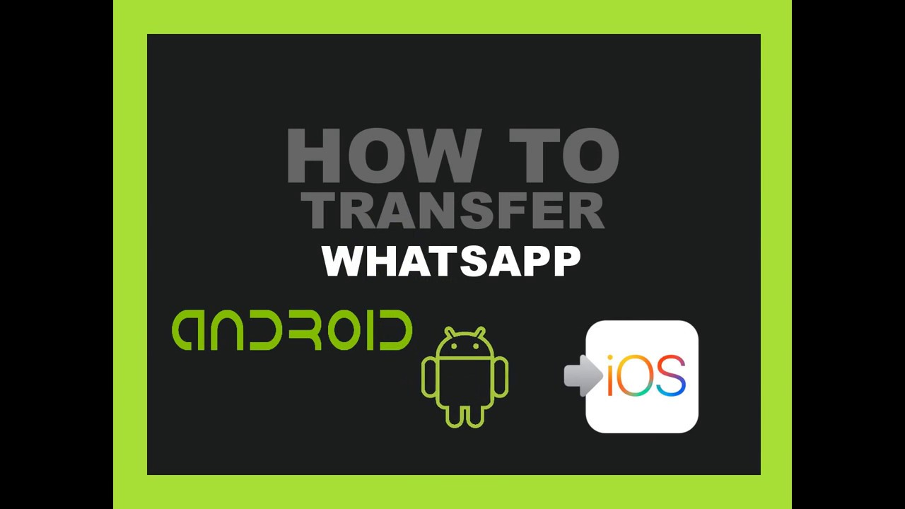 How to Transfer WhatsApp Chats Messages from Android to iPhone 6/7/7 Plus  2017