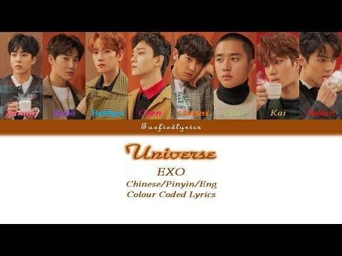 EXO -  Universe(為心導航) Colour Coded...