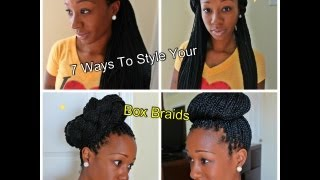 how i style my box braids 7 simple looks