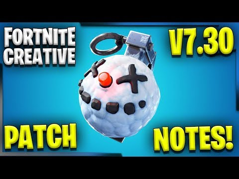 V7.30 PATCH NOTES ARE HERE! | Fortnite Creative Updates V7.30