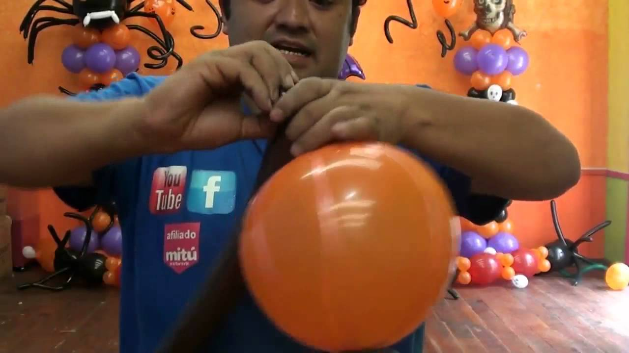 Arbol de calabazas halloween globos chasty youtube - Ideas para decorar calabazas halloween ...