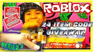 FREE ROBLOX TOYS SERIES 5 CODES GIVEAWAY FOR MY 3 YEARS ON YOUTUBE TRISTAN CREATIVE