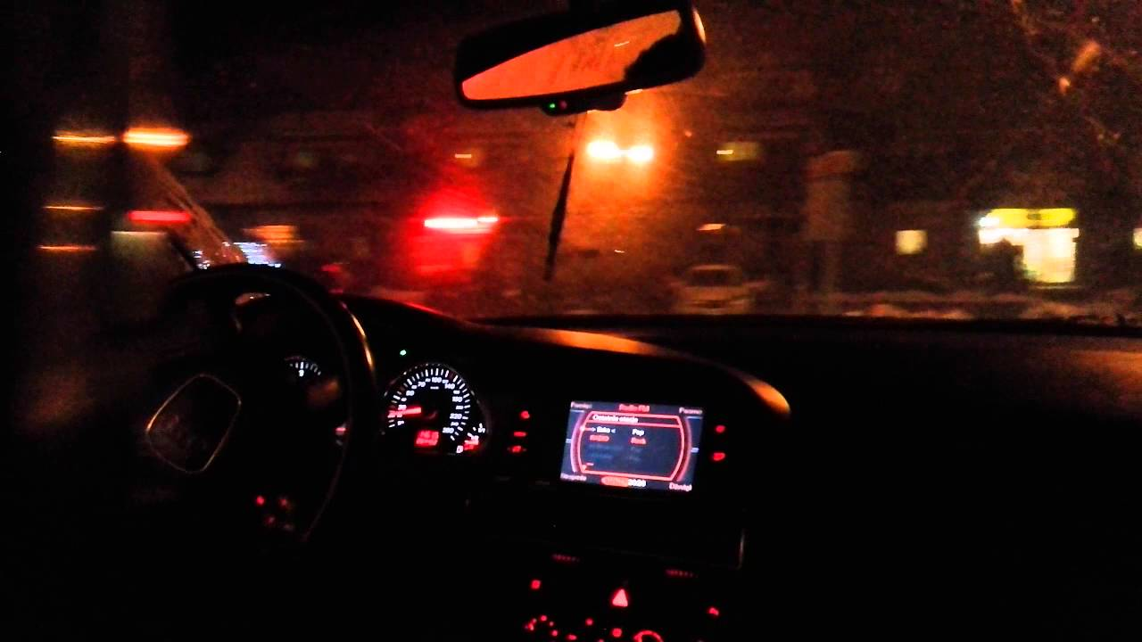 Audi A6 C6 170 Hp Test On Road At Night Youtube