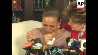 Former Lowe family nanny Laura Boyce and her attorney Gloria Allred speak to the media in L.A. Boyce