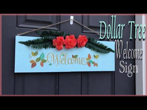 DOLLAR TREE Welcome Sign DIY