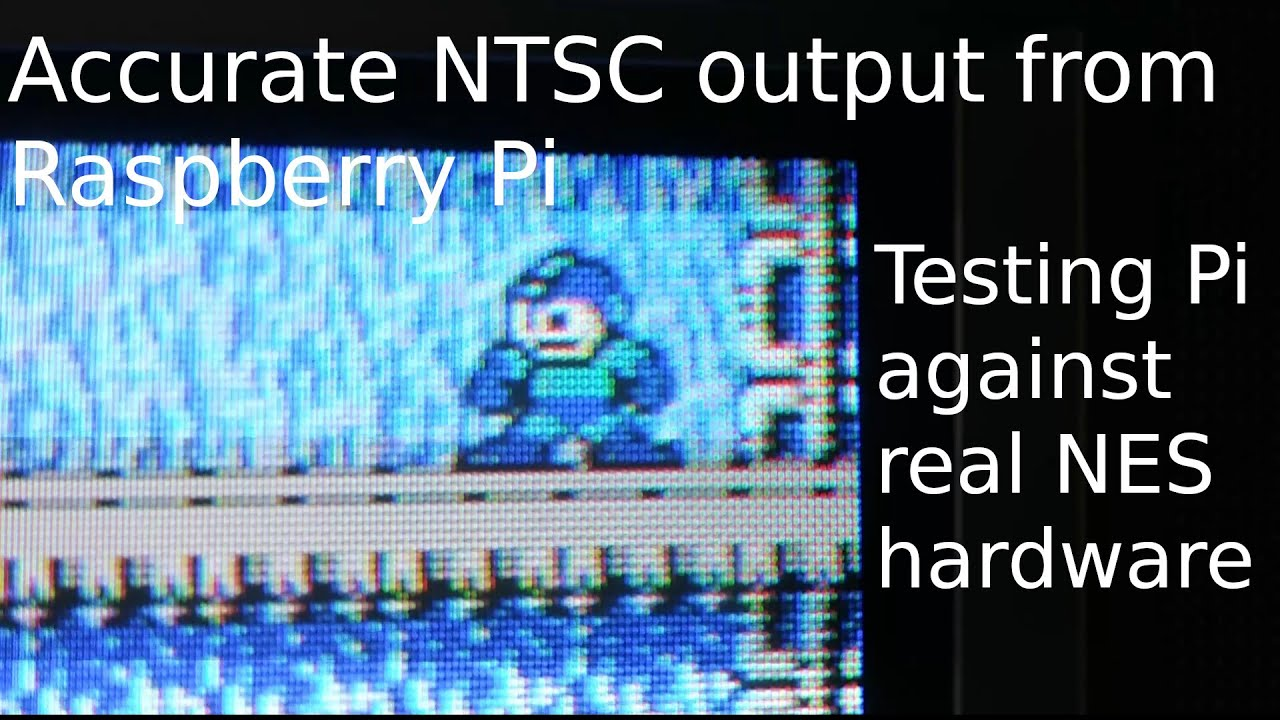 Download Accurate NTSC output from Raspberry Pi Composite out in 240p, testing Pi against real NES hardware