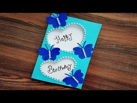 DIY - How to make Special Butterfly Birthday Card | Beautiful Handmade Birthday card | Gift Idea.