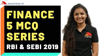 Finance 5 MCQs Series | RBI & SEBI 2019