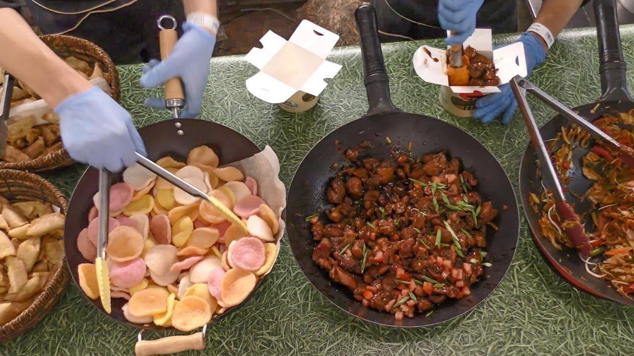 Asian Road Meals from the Far East seen in Kiev, Ukraine