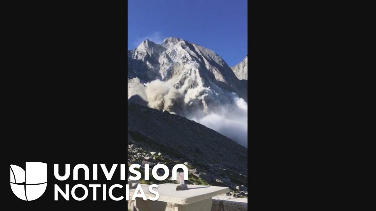 En video: La increíble avalancha que evacuó a un pueblo en los Alpes Suizos