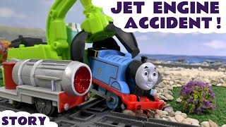 thomas friends jet engine accident minions play doh diggin rigs rescue toy train trackmaster story