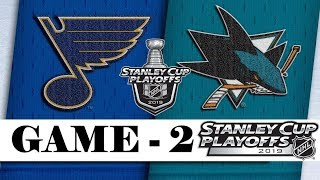 St. Louis Blues Vs San Jose Sharks  Western Conference Final  Game 2  Stanley Cup 2019  Обзор