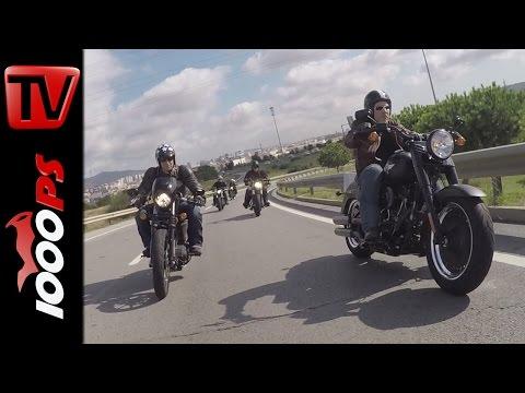 Harley-Davidson Fat Boy S und Slim S 2016 | Test, Action