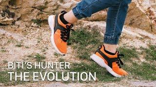 """Trên """"chân"""" Biti's Hunter The Evolution: đế cao hơn, có màu cam rất đẹp với giá chưa đến 1 triệu"""