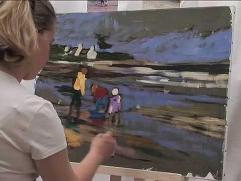 Peinture Au Couteau Youtube