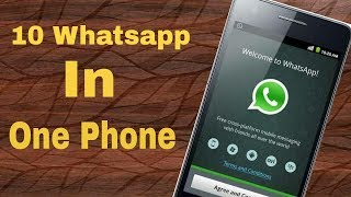 [Hindi/Urdu] How to Use 10 Whatsapp in One Phone | Easy Tutorial | Android App Review