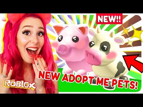 New Pig And Cow Pet In Adopt Me New Roblox Adopt Me Farm Egg Pet Update Youtube