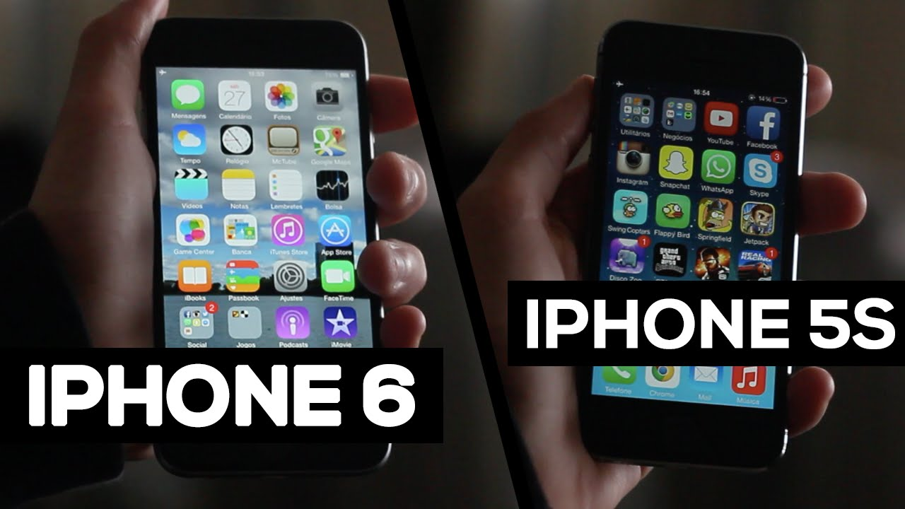 b4e9cf8f6 iPhone 6 vs iPhone 5s - Comparação - YouTube