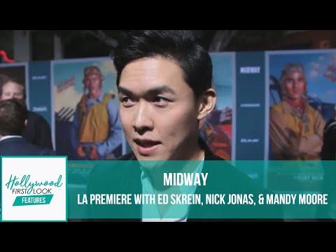 MIDWAY  (2019) | LA PREMIERE With ED SKREIN, NICK JONAS, & MANDY MOORE With SARI COHEN