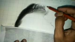 How to draw hair and forehead