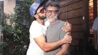 Ranveer Singh Kisses Filmmaker Rakeysh Omprakash Mehra In Front Of Media Outside His Office