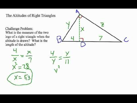 How To Find The Altitude Of A Right Triangle YouTube - What's the elevation here