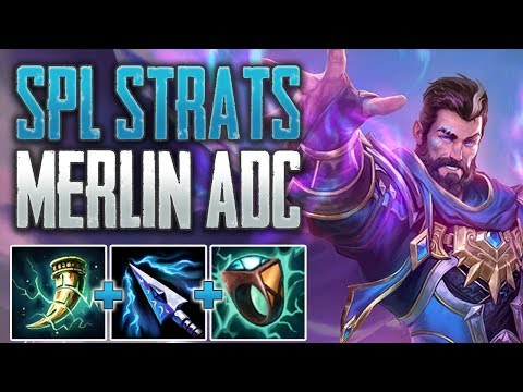 SPL Strats! Merlin ADC Gameplay (SMITE Conquest)