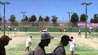 H24ソフトテニス全日本社会人 村上・中本vs菅野・柴田