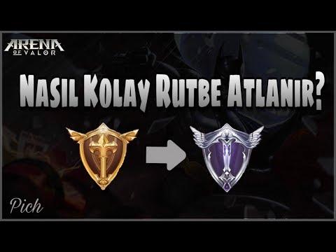 [Sezon7] NASIL KOLAY RÜTBE ATLANIR? | Altından Platine Yükselmek | Arena Of Valor - Pich Gameplay #1