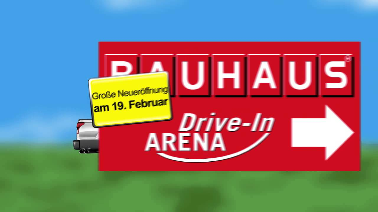 "Bauhaus Drive In"" Digitale Außenwerbung Videoboard LED Screen"