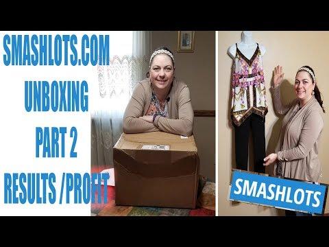 Smashlots.com Unboxing Part 2 Results & Profit numbers Amazon FBA Ebay Online reseller
