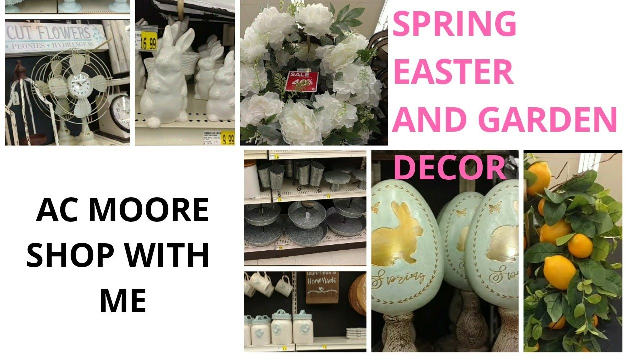 Ac moore shop with me 🌼spring Easter 🐇 and garden decorations