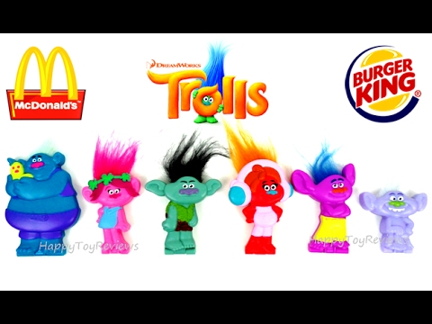 King Full Dreamworks 2017 Toys Happy Meal 6 Unboxing Kids Movie Us Mcdonald's Burger Set Trolls oexdCWQrB