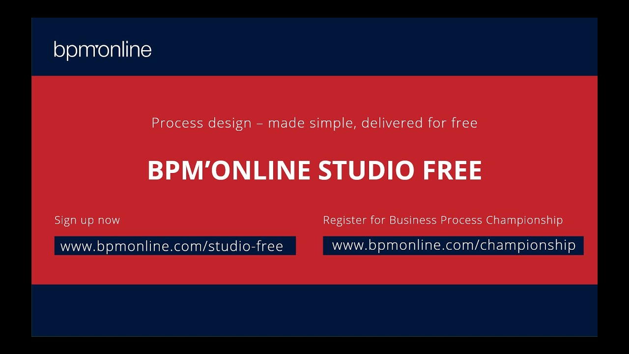 Bpm'online launches a new free product to accelerate process design