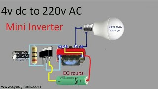 4v dc to 220v AC mini inverter
