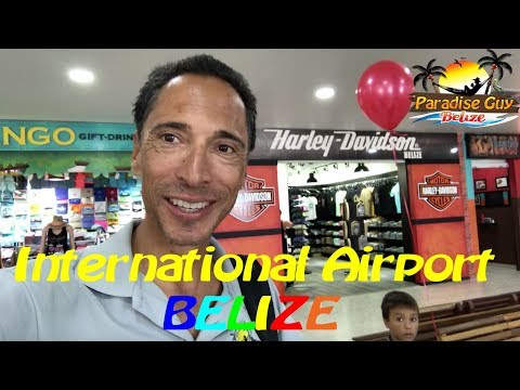Tour The International Airport in Belize with The Paradise Guy