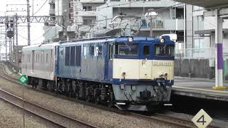 JR武蔵野線新座駅【ゆうマニ廃車回送通過】EF64‐1051牽引