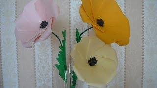 Цветок из бумаги своими руками Мак Paper Poppy Flower(Оставьте отзыв в комментариях и подпишитесь на канал http://www.youtube.com/user/Mamochkinkanal?sub_confirmation=1. Спасибо! Представля..., 2014-03-03T04:43:09.000Z)