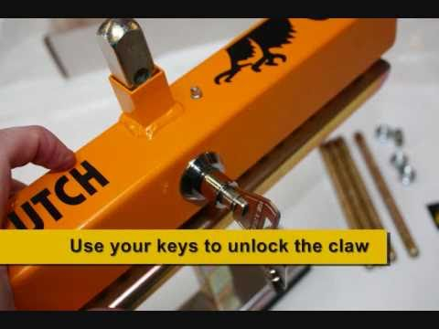 How to set up and use a clutch claw security device.wmv