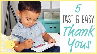 TIPS | 5 Fast & Easy Thank Yous