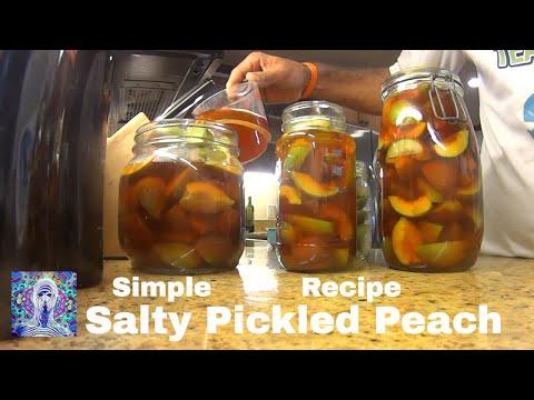 Salty Pickled Peach - Simple Recipe