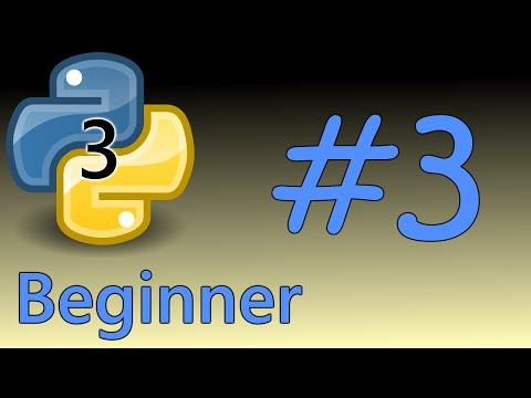 Python3 Beginner Tutorial 3 - Input & Output