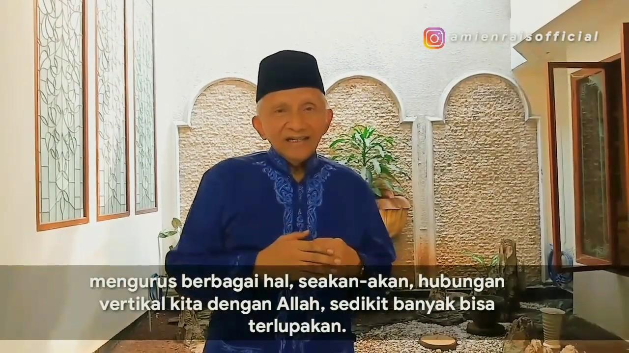 Pesan Bapak Amien Rais untuk seluruh kader, simpatisan, supporter PAN. 6 Desember 2019.