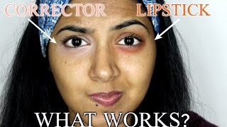 Orange Lipstick Vs. Peach Corrector | Which really works?