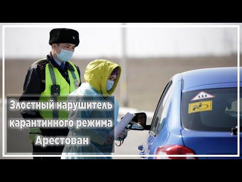 Злостный нарушитель карантинного режима арестован | Новости Казахстана