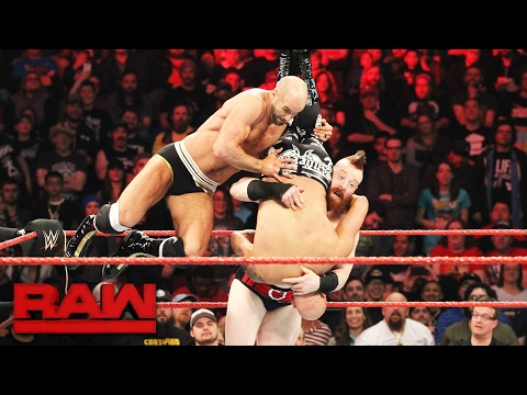 Sheamus & Cesaro vs. Gallows & Anderson - Raw Tag Team Championship Match: Raw, Feb. 6, 2017