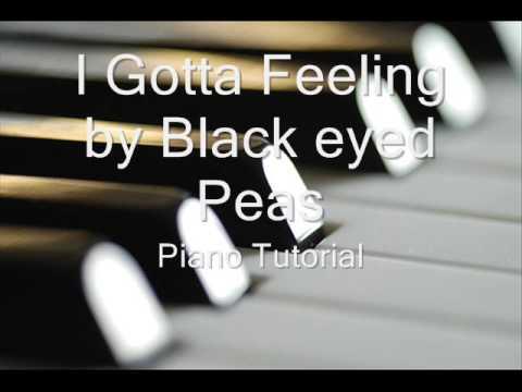 How To Play I Gotta Feeling Black Eyed Peas On Piano Youtube