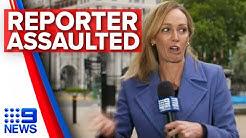 Australian reporter assaulted on live TV in London | Nine News Australia